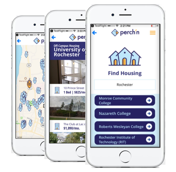 Download the perch'n app in the app store